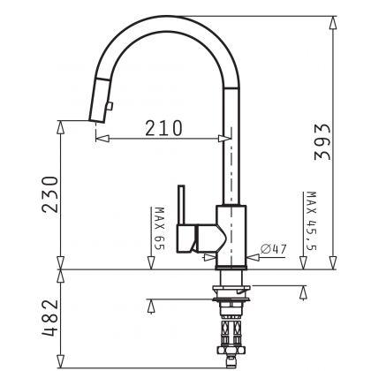 Baterie de bucatarie Pyramis Amada Crom, 090917801, inox