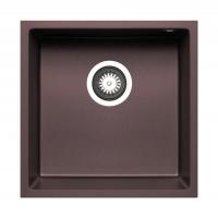 Chiuveta granit Pyramis TETRAGON 40x40 1B 070066311, chocolate, pyragranite, montare sub blat