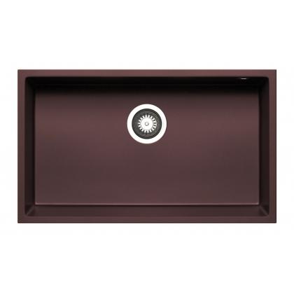 Chiuveta granit Pyramis TETRAGON 70x40 1B 070068711, chocolate, montare sub blat