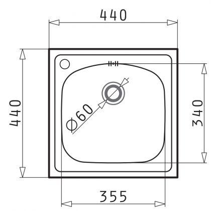 Set chiuveta Pyramis INSET 1B SM, 101051101A, inox, 44 cm + baterie bucatarie cadou