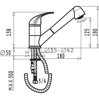 Set chiuveta Pyramis ATHENA 1B1D LN, 100180201FC, inox microtexturat, 79 cm + baterie bucatarie cadou