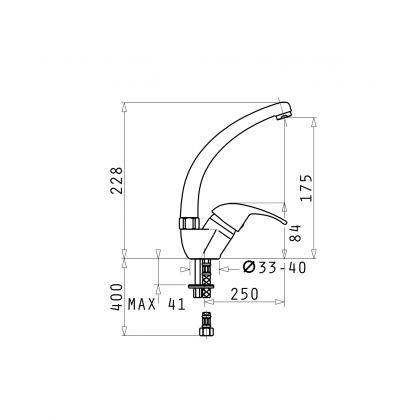 Set Pyramis Level ARTITHEK 1B 1D ST + baterie OSSIA, 19141106LABLO, negru, 86 cm