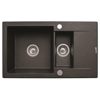 Chiuveta de bucatarie Pyramis KORFU 78x46 1 1/2B 1D Black