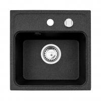 Chiuveta de bucatarie Pyramis MINI CAMEA 1B 40x40 Black, granit