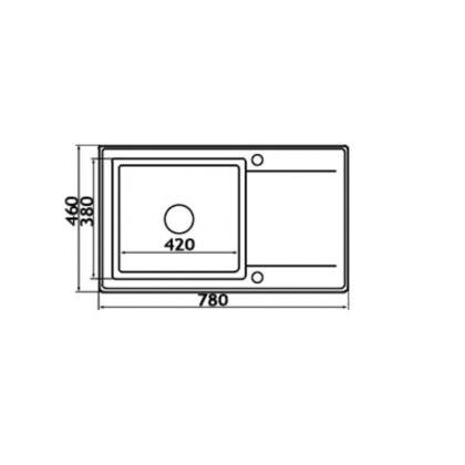 Chiuveta de bucatarie Pyramis MIDO PLUS 1B 1D Carbon, 78x46, 890021521