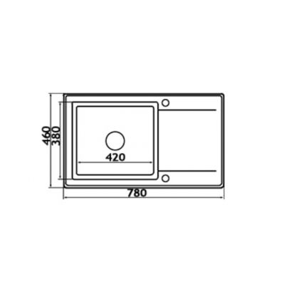 Chiuveta de bucatarie Pyramis MIDO PLUS 1B 1D, 890021491, 78x46, Beige