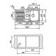 Chiuveta de bucatarie Teka Standard Line Princess 1 1/2 B 1D, 100 cm latime