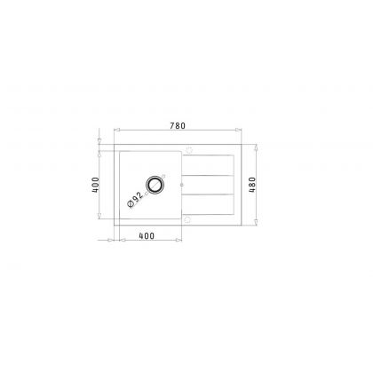 Set chiuveta de bucatarie Pyramis SPARTA PLUS & baterie OSSIA - Snow, 070052901OW