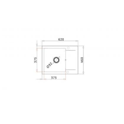 Set chiuveta Pyramis KORFU 1B1D & baterie OSSIA, 070060801OS, 62 cm, pyragranite, crem