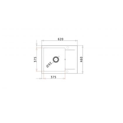 Set chiuveta Pyramis KORFU 1B1D & baterie BELLO, 070060801B, 62 cm, pyragranite, crem