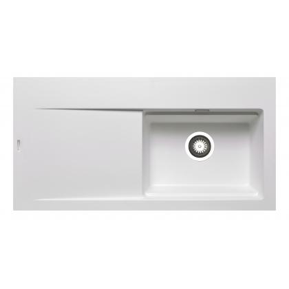 Chiuveta Pyramis TEKTON 1B 1D DR, 070017111, 100 cm, alb