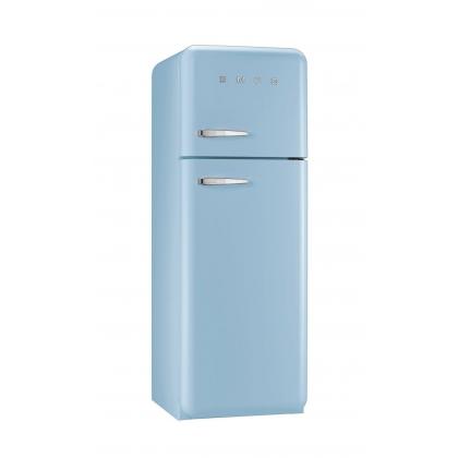 Frigider retro cu 2 usi Smeg FAB30RAZ1, clasa A++, albastru deschis, ventilat