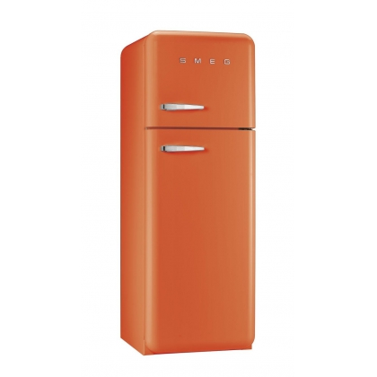 Frigider retro cu 2 usi Smeg FAB30RO1, clasa A++, portocaliu, ventilat