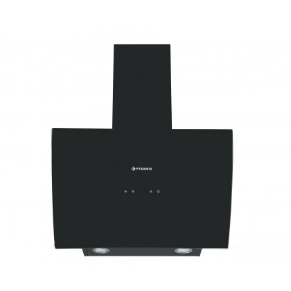 Hota de perete Pyramis ATD60650B Turbo Black Glass, 60 cm, negru, touch control