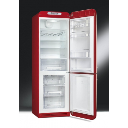 Combina frigorifica retro Smeg FAB32RRN1, congelator No Frost, clasa A++, rosu