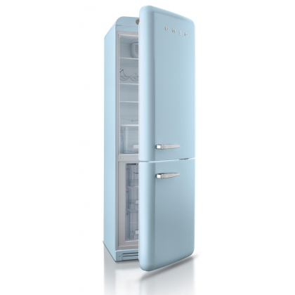 Combina frigorifica retro Smeg FAB32RAZN1, congelator No Frost, clasa A++, albastru deschis