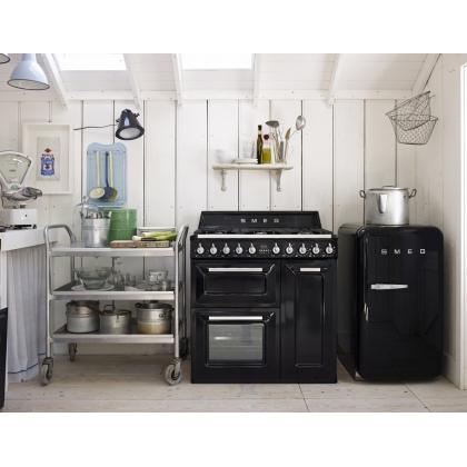 Frigider minibar retro Smeg FAB10RNE, clasa A+, negru