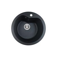 Chiuveta de bucatarie soft compozit Pyramis Round ARTITHEK 1B, 19097006, Ø 510, negru