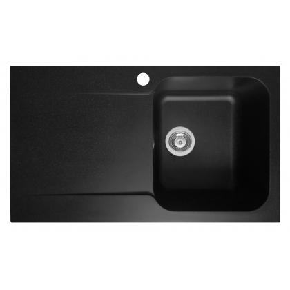 Chiuveta soft compozit Pyramis Level ARTITHEK 1B 1D DR, 19141206, 86 cm, negru