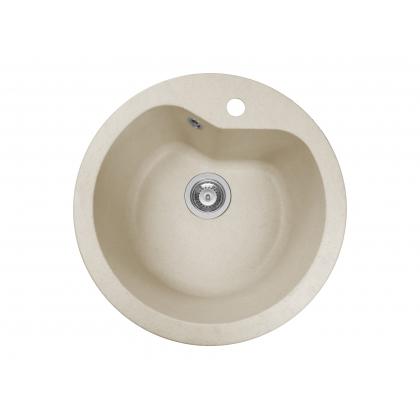 Chiuveta rotunda soft compozit Pyramis Round DUROTHEK 1B, bej, Ø 510