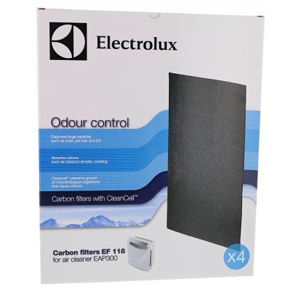 Filtru de carbon Electrolux EF118 pentru purificator Electrolux EAP300, 4 buc