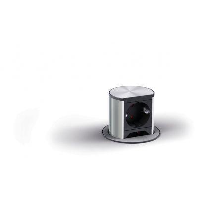 Priza retractabila incorporabila Bachmann Elevator 822.92.920, 1 priza Schuko, 2 prize Euro, 230 V