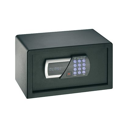 Seif de hotel Hafele 836.24.330, tastatura electronica, 405 mm h, otel, usa 5 mm, carcasa 2 mm