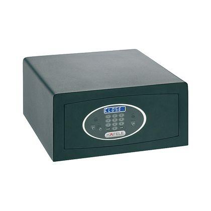 Seif de hotel Hafele 836.23.350, tastatura electronica, 405 mm h, otel, usa 6 mm, carcasa 2 mm