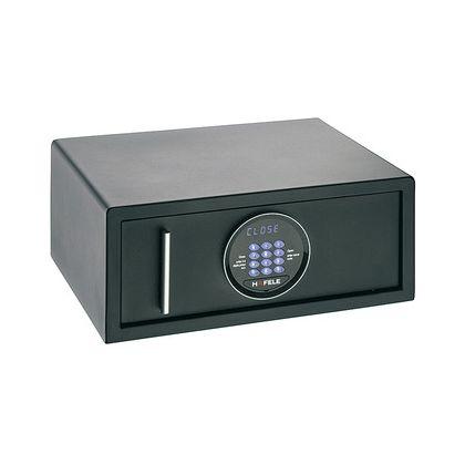 Seif de hotel Hafele 836.24.311, tastatura electronica, 470 mm h, otel, usa 4 mm, carcasa 2 mm