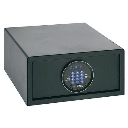Seif de hotel Hafele 836.23.360, tastatura electronica, 405 mm h, otel, usa 6 mm, carcasa 2 mm