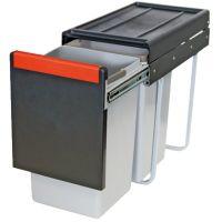 Cos de gunoi incorporabil Franke Cube 502.76.508, 2x15 l, negru, corp 300 mm