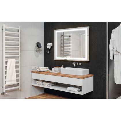 Oglinda multifunctionala Hafele AQUASYS 983.19.031, 120x90 cm latime, iluminare rece/calda, 1560 lm, 111 W, sistem audio, dezaburire