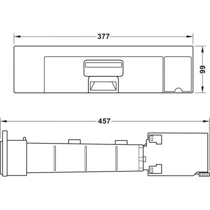 Aspirator incorporabil de plinta cu sac SWEEPOVAC SLIM 565.29.193, 650W