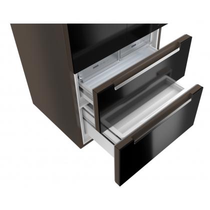 Frigider cu 4 usi Teka No Frost RFD 77820 GBK, 83 cm, sticla neagra, A++