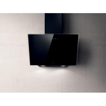 Hota de perete Elica SHIRE BL/A/90, sticla neagra, 90 cm, 710 m3/h, evacuare