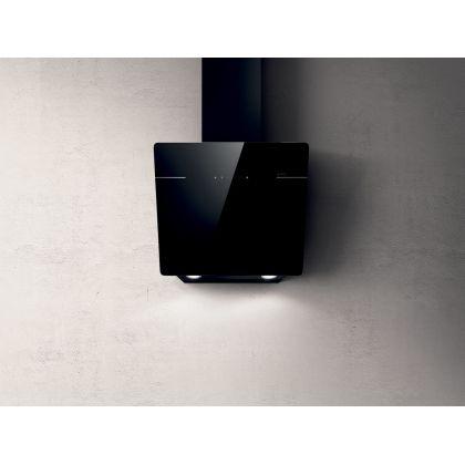 Hota de perete Elica L'ESSENZA BL/A/60, sticla neagra, 60 cm, 690 m3/h, evacuare
