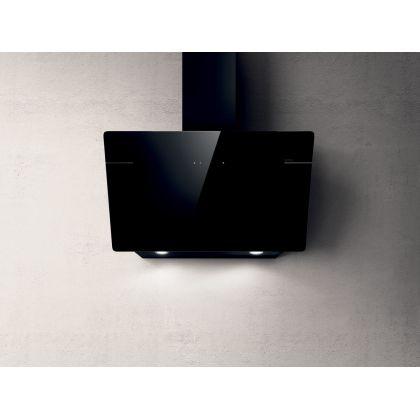 Hota de perete Elica L'ESSENZA BL/A/90, sticla neagra, 90 cm, 690 m3/h, evacuare