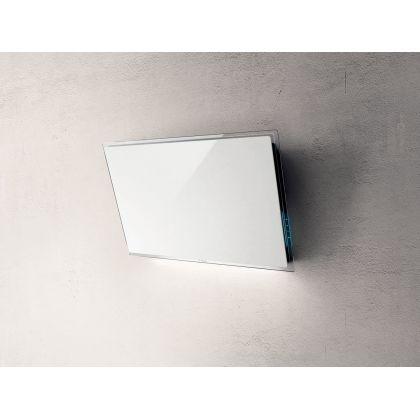 Hota de perete Elica ELLE WH/F/80, 80 cm, sticla alba, 665 m3/h, recirculare