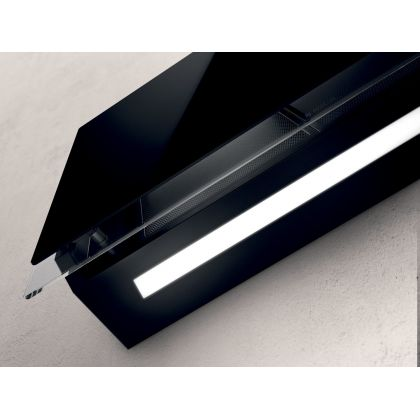 Hota de perete Elica ELLE BL/F/80, 80 cm, sticla neagra, 665 m3/h, recirculare