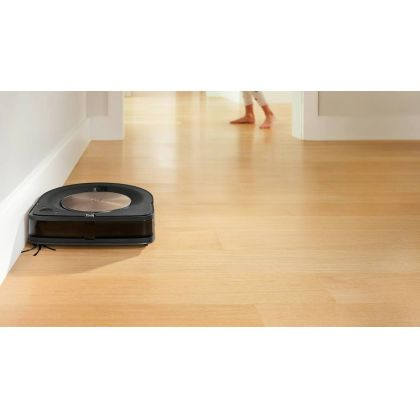 Aspirator inteligent iRobot Roomba S9+, Navigare iAdapt® 3.0, golire automata cos, curatare nelimitata, comunicare cu Braava M6, Special Edge