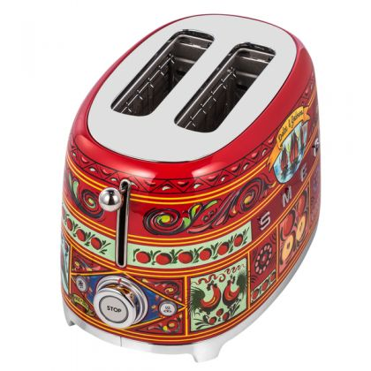 Prajitor de paine Smeg Dolce&Gabbana TSF01DGEU, 950 W, retro