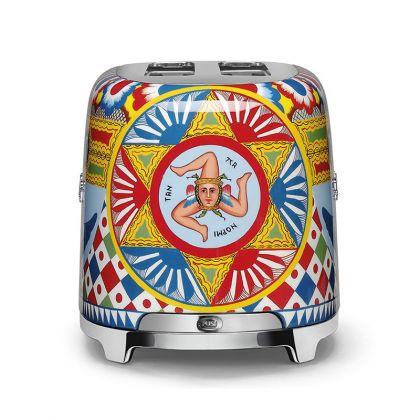 Prajitor de paine Smeg Dolce&Gabbana TSF02DGEU, 1500 W, retro, 4 felii