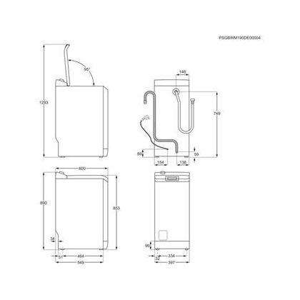 Masina de spalat rufe cu incarcare verticala Electrolux PerfectCare700 EW7T3272, SteamCare, 7 kg, A+++