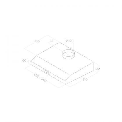 Hota incorporabila Elica KREA ST IX F/90, inox, 90 cm, recirculare