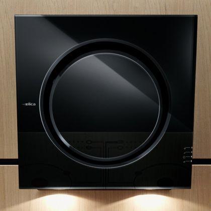 Hota de perete Elica MINI OM BL/F/55, negru, 55 cm