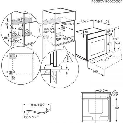 Cuptor electric incorporabil AEG BES331110M, inox antiamprenta, 71 l