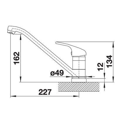 Baterie de bucatarie Blanco DARAS-F, crom, 521751