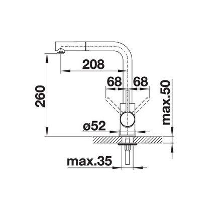 Baterie de bucatarie Blanco MILA-S, crom, 519810