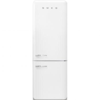 Combina frigorifica retro Smeg FAB38RWH, 70 cm latime, No Frost, clasa A++, alb, inverter, Ice maker