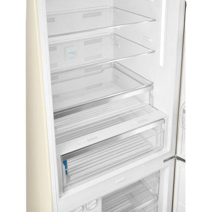Combina frigorifica retro Smeg FAB38RCR, 70 cm latime, No Frost, clasa A++, crem, inverter, Ice maker